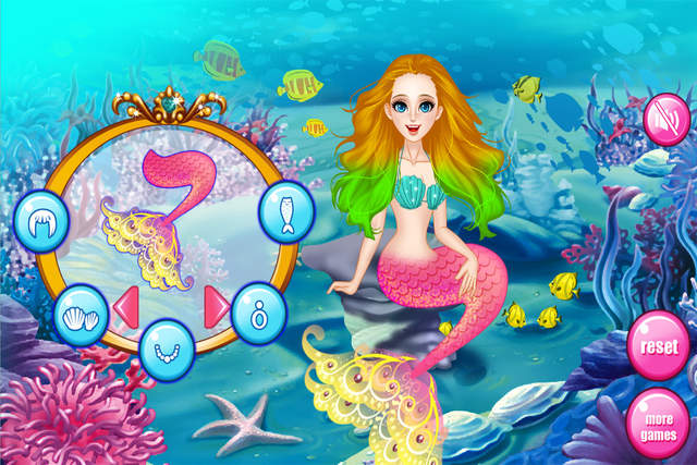 在这个孩子们的游戏,你会遇到一个美人鱼谁是我们美丽的朋友.