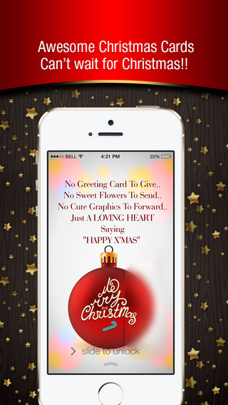 Christmas cards - ready to send your relatives and friends and Use as Lock Screen Background