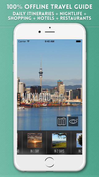 Auckland Travel Guide with Offline City Street and Metro Maps