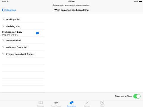 Samoa Language iPad Screenshot 2