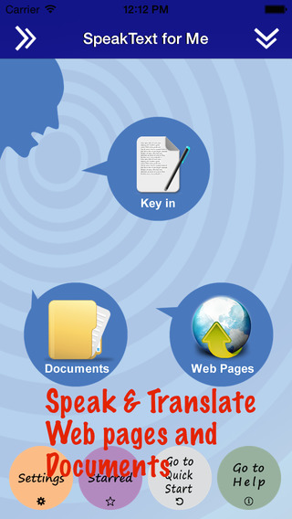 SpeakText FREE - Speak Translate Text Documents and Web pages