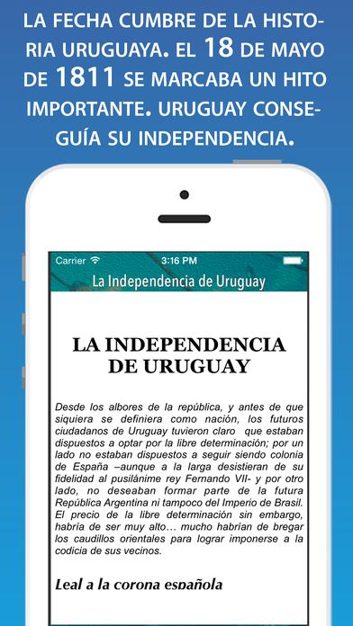 La independencia de Uruguay: Hecho Histórico iPhone Screenshot 2
