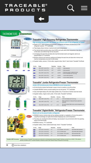 Traceable® Products Catalog