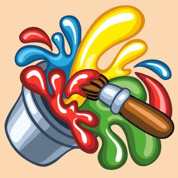 Wesoła kolorowanka - ciekawa rozrywkowo-edukacyjna gra dla dzieci to wspaniała zabawa z rysunkami, kolorami i dźwiękami 遊戲 App LOGO-硬是要APP