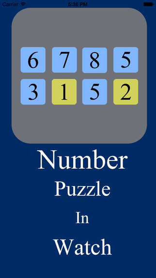 Number Puzzle in Watch