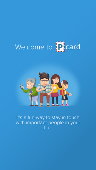 PCard - Chat with friends and family