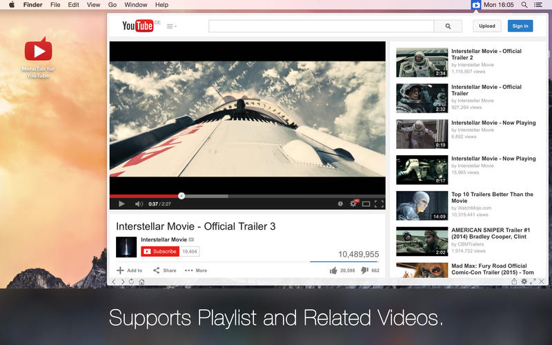 MenuTab for YouTube Screenshot - 2