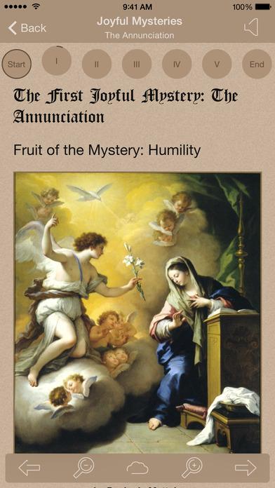 Scriptural Rosary iPhone Screenshot 1