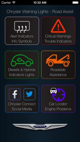 App for Chrysler with Chrysler Warning Lights Chrysler Car Problems - Roadside Assistance