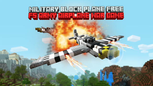 Military Block Plane Free - FS Army Airplane War Game