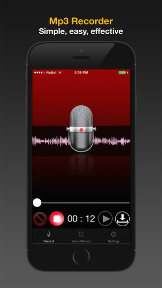 Mp3 Recorder: the best voice memos with mp3 player and easy to share