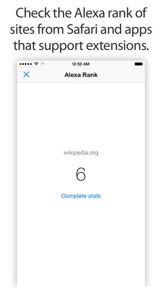 Alexa Rank - App Safari Extension