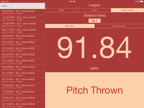 Pitch Speed iPad Screenshot 1
