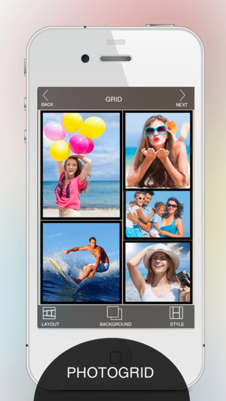 Square Photo Collage Maker - Frames Layout shape maker Pics Collage Templates Mixture Of Picture