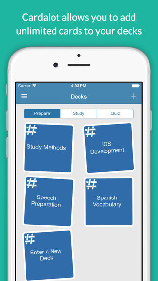 Cardalot - Swipe Flash Cards to Improve Study Skills and Quiz Yourself