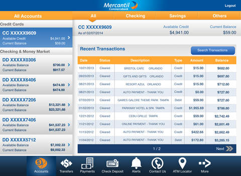 Mercantil Mobile for iPad