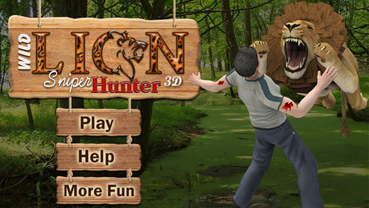Wild Lion Sniper Hunter 3D - an action filled thrilling hunting game for shooters