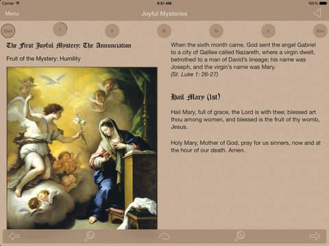 Scriptural Rosary iPad Screenshot 1