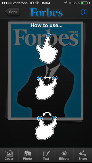 Cover Maker - for Forbes Romania