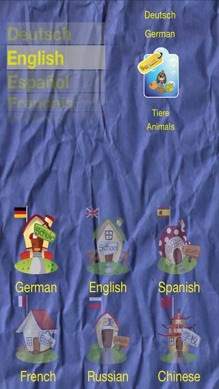 Animals - English Spanish French German Russian Chinese by PetraLingua