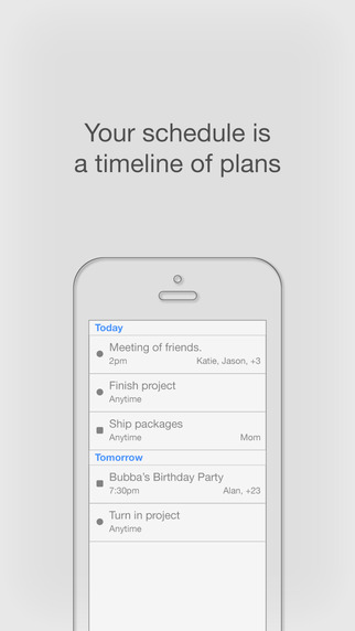 Squedule - Shared Plans To-do Messaging.