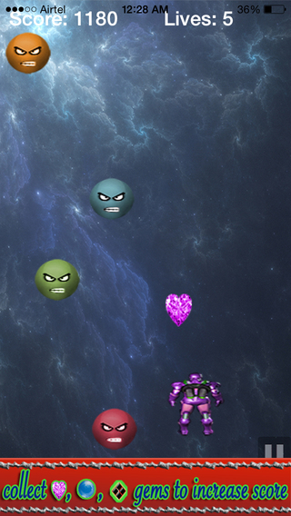 Space Alien War Saga colorful angry bubble attack
