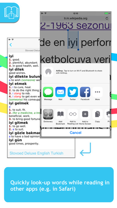 Turkish <-> English Slovoed Deluxe talking dictionary iPhone Screenshot 3