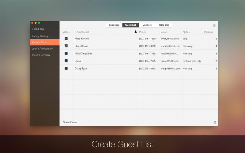 Event Planner Screenshot - 2