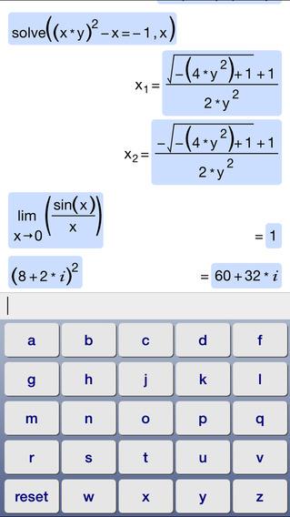Symbolic Calculator iPhone Screenshot 2