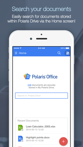 Polaris Office for PDF + Microsoft Office Word Excel Powerpoint