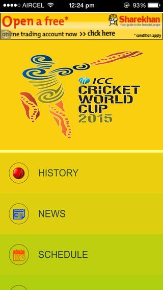 Cricket World Cup 2015 Schedule