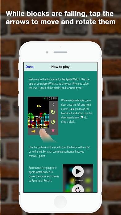 WatriX - Block Game Playing on your Watch Screenshots