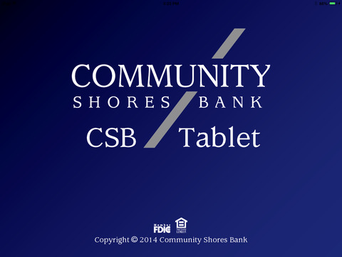 Community Shores Banking for iPad