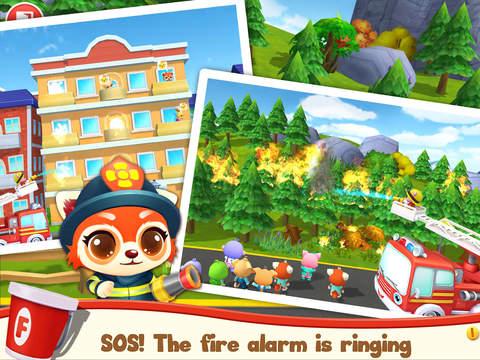 Screenshots of Pet Heroes - Fireman for iPad