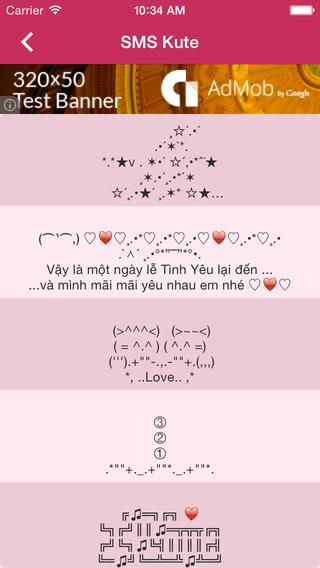 SMS Valentine 2015
