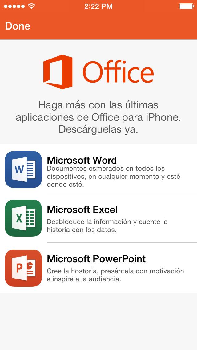 Office Mobile: reemplazado por las nuevas aplicaciones