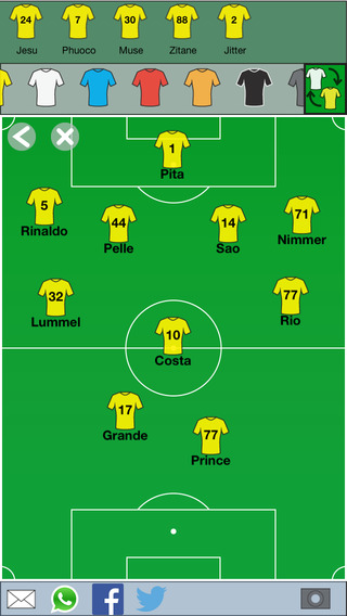 My Team Lineup PRO - Create and share your soccer starting lineup
