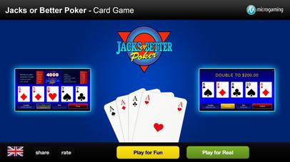 Screenshot 1 Популярные Казино Карточная игра — Валеты или лучше покер — Microgaming