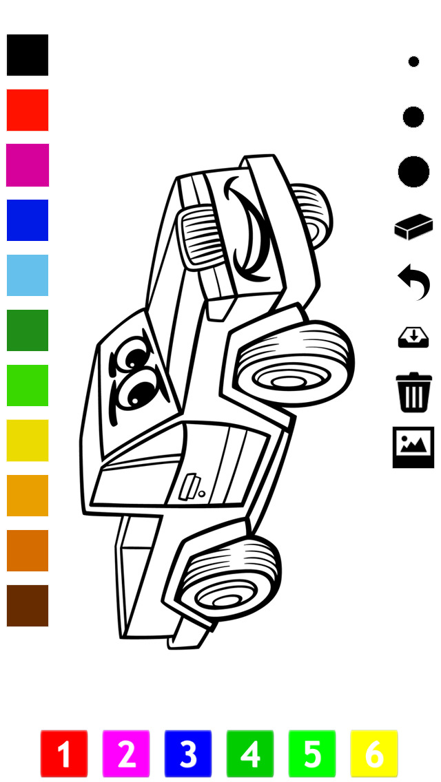 download A Cars Coloring Book for Boys: Learn to Color Pictures of Vehicles apps 1