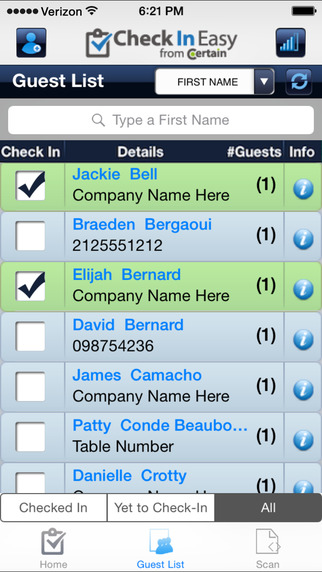 Check In Easy - Guest List Event Check-in Manager