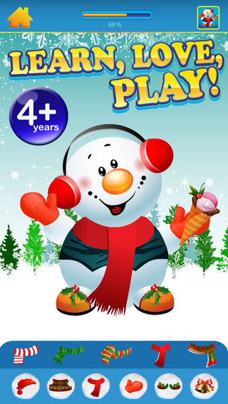 Snowman Mania Design Quest Free App