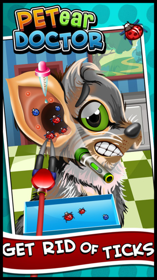 Baby Pet Ear Doctor - Virtual Animal Ear Care Surgery Games for Kids