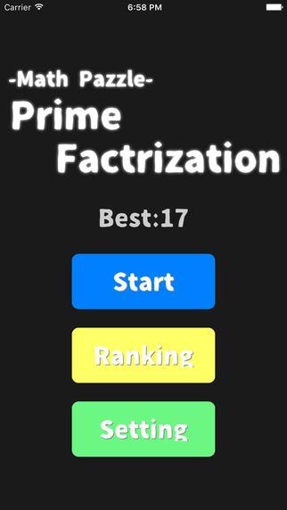Brain training game of math -Prime Factorization