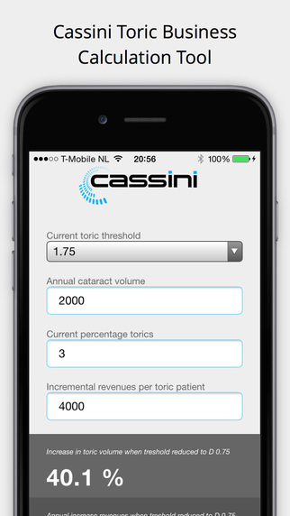 Cassini Toric Tool