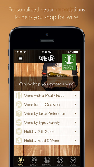 Hello Vino - Wine Guide - Recommendations Ratings and Scanner