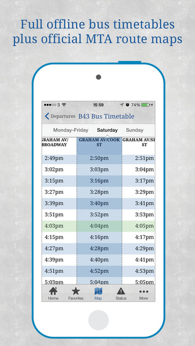 Bus New York City iPhone Screenshot 5