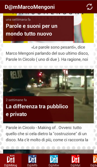 Dam for Marco Mengoni