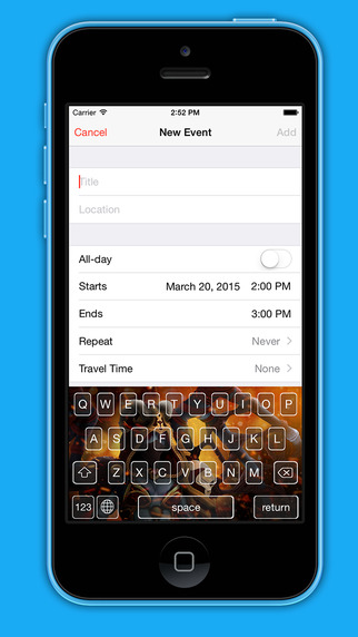 Spirit Board : Fancy iPhone Keyboard With Spirit Of Fight