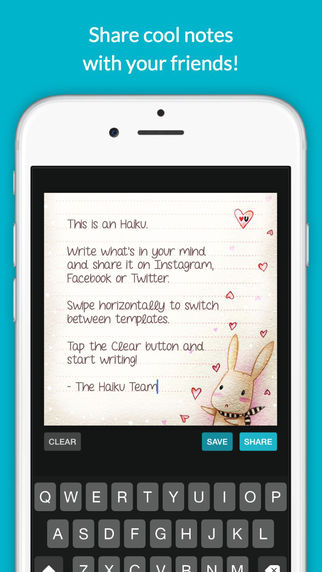 Haiku - Share cool notes with your friends