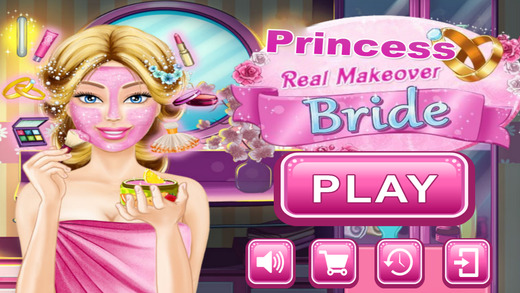 Princess Real Bride Makeover - Princess Dress Up Beauty Salon With fashion Make Up Maker Girl Weddin